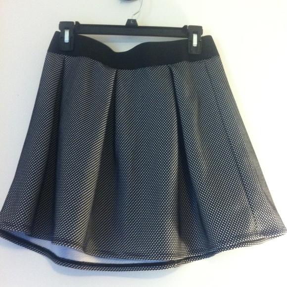 ee06f1fb9be6 Jon Benbasset Skirts | Black White Skater Polka Dot Mini Skirt ...